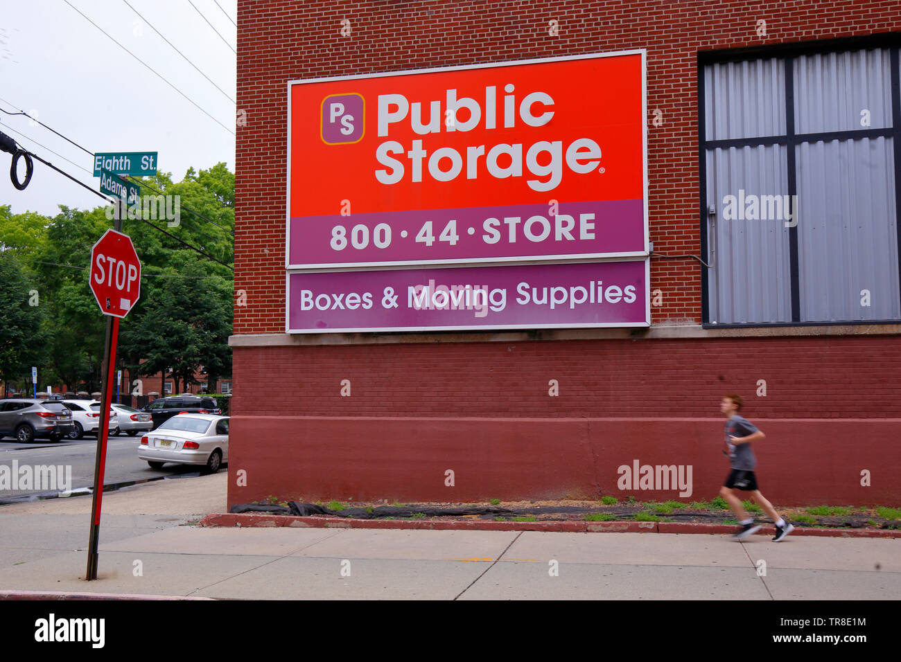 A Giant Public Storage Sign In Hoboken, New Jersey Stock ...