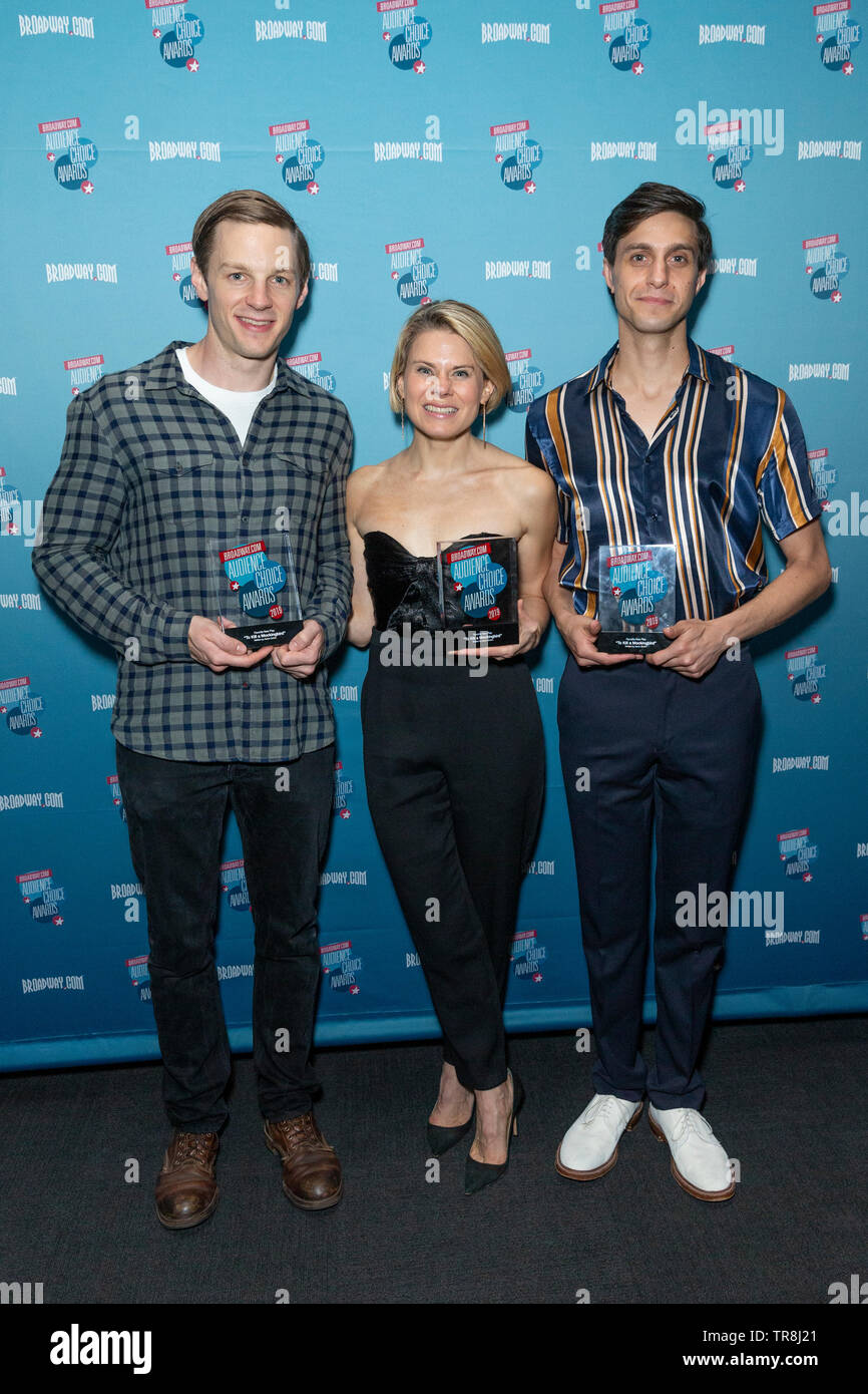 New York, NY - May 30, 2019: Will Pullen, Celia Keenan-Bolger, Gideon Glick attend Broadway.com Audience Choice Awards at 48 Lounge - Stock Image