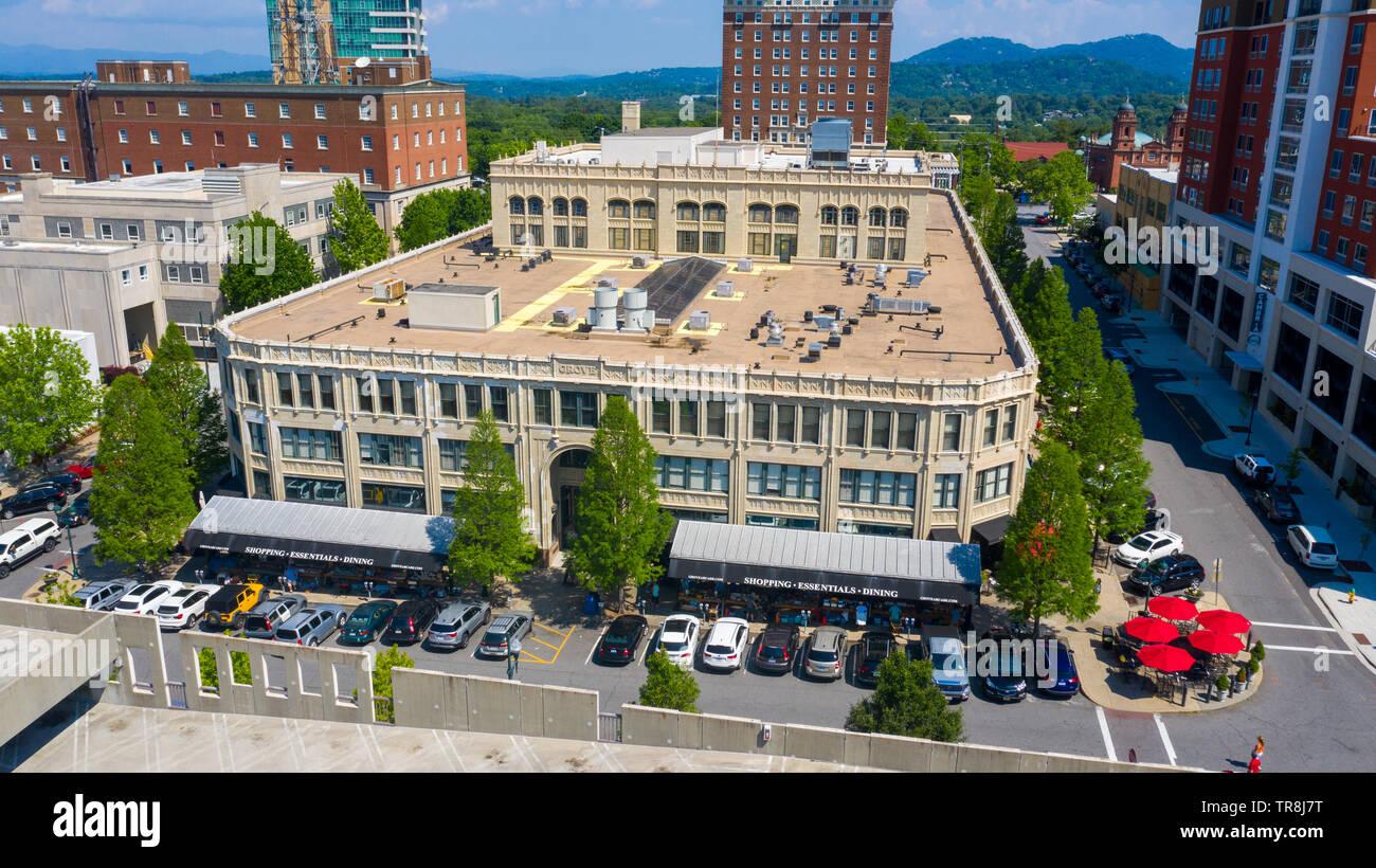 Arcade Building, or Grove Arcade, or Asheville Federal Building, Downtown Asheville, NC, USA - Stock Image