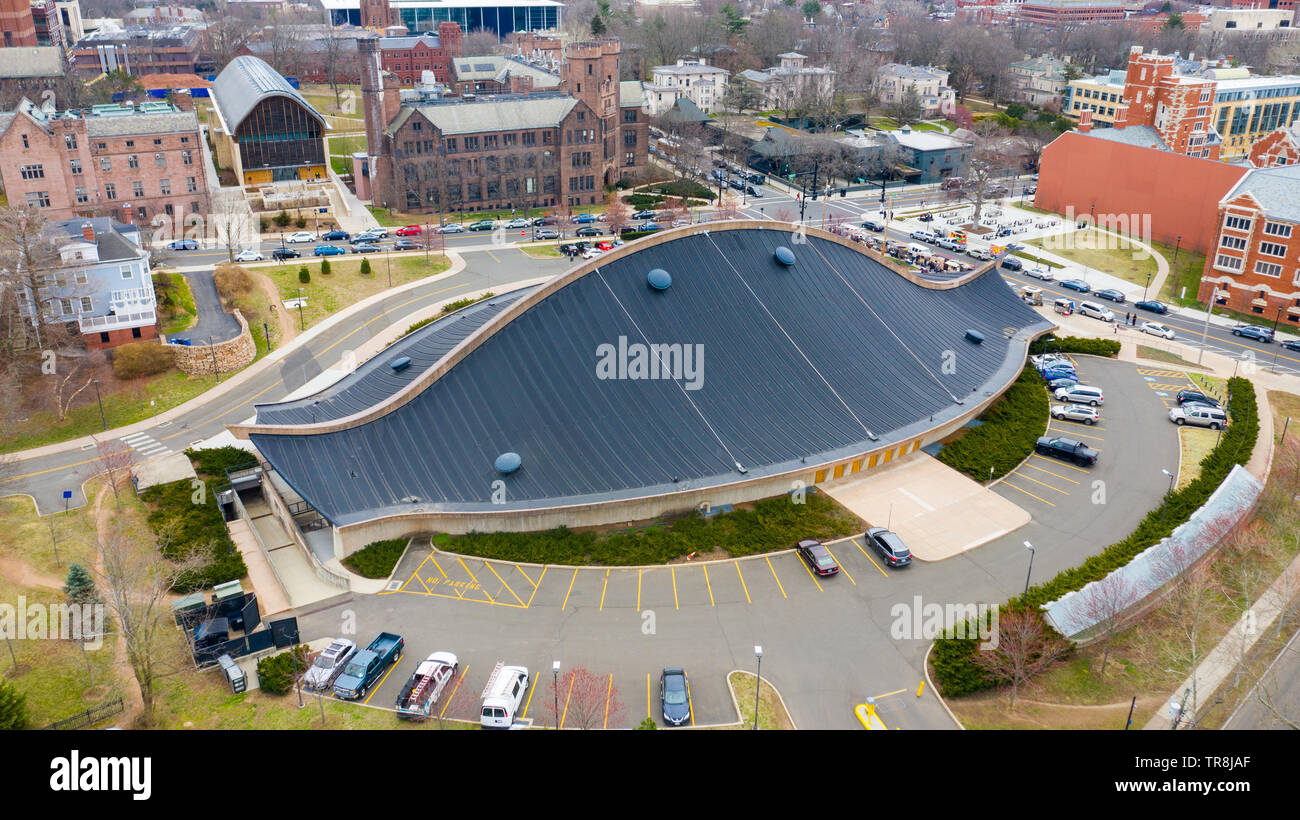 Ingalls Rink, Hockey Rink, New Haven, CT, USA - Stock Image