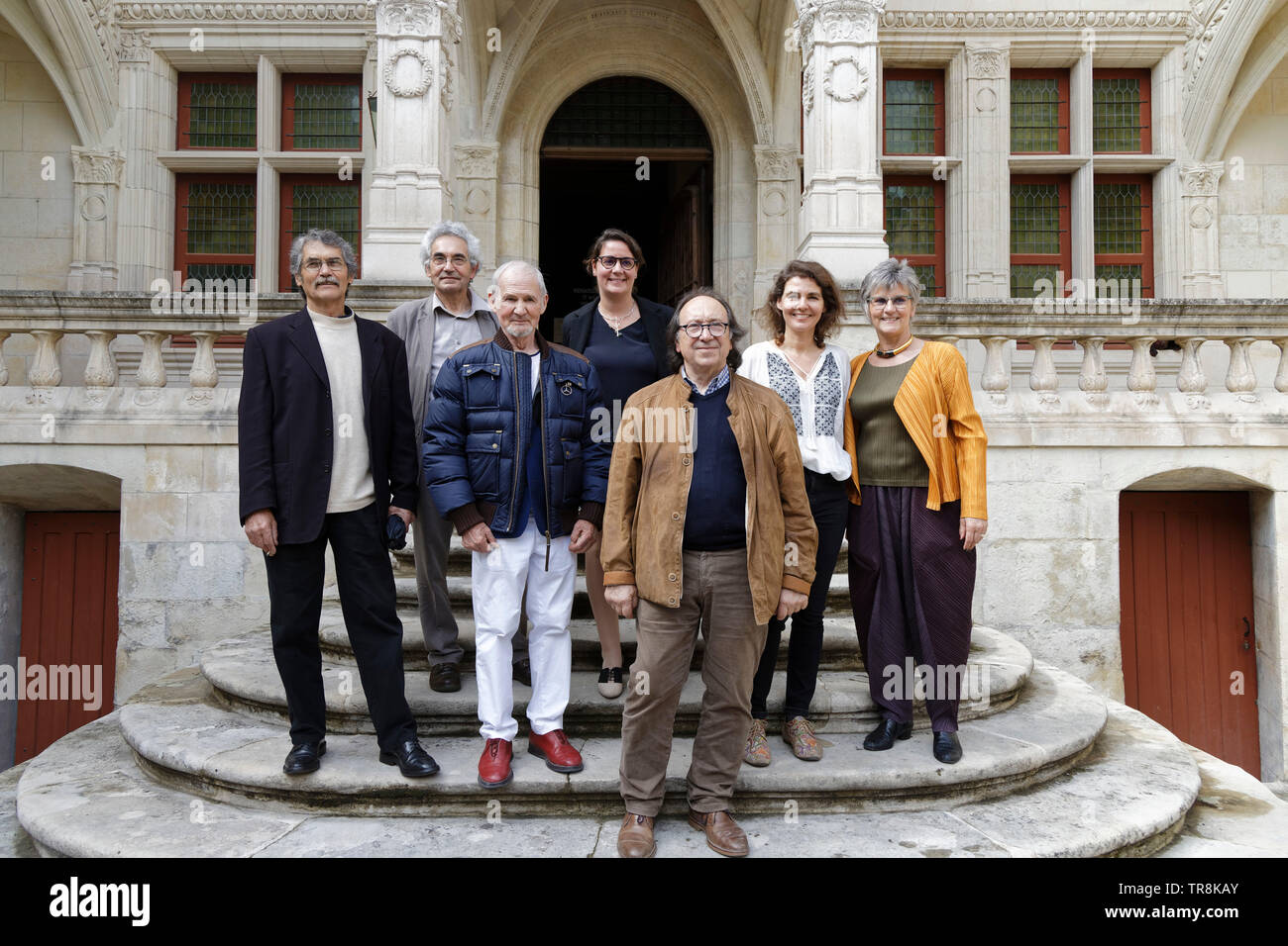 Tours, France.24th May,2019.Artists & S. Capazza(R) & L.Capazza (C)at Exhibition Re-naissance(s) of the Capazza Gallery ©:VPhitoussi/Alamy Stock Photo - Stock Image
