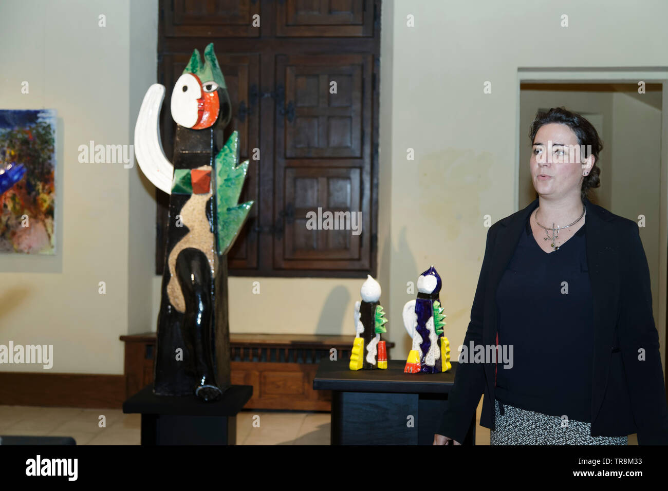 Tours, France.24th May,2019.Laura Capazza-Durand at Re-naissance(s) of the Capazza Gallery  in the Hotel Goüin.©:Veronique Phitoussi/Alamy Stock Photo - Stock Image