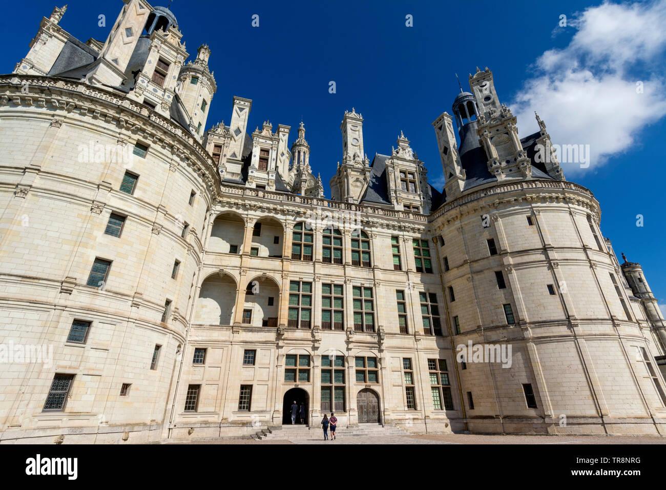 Chateau de Chambord, Loire Valley, Loir-et-Cher department, Centre-Val de Loire, France, Europe Stock Photo
