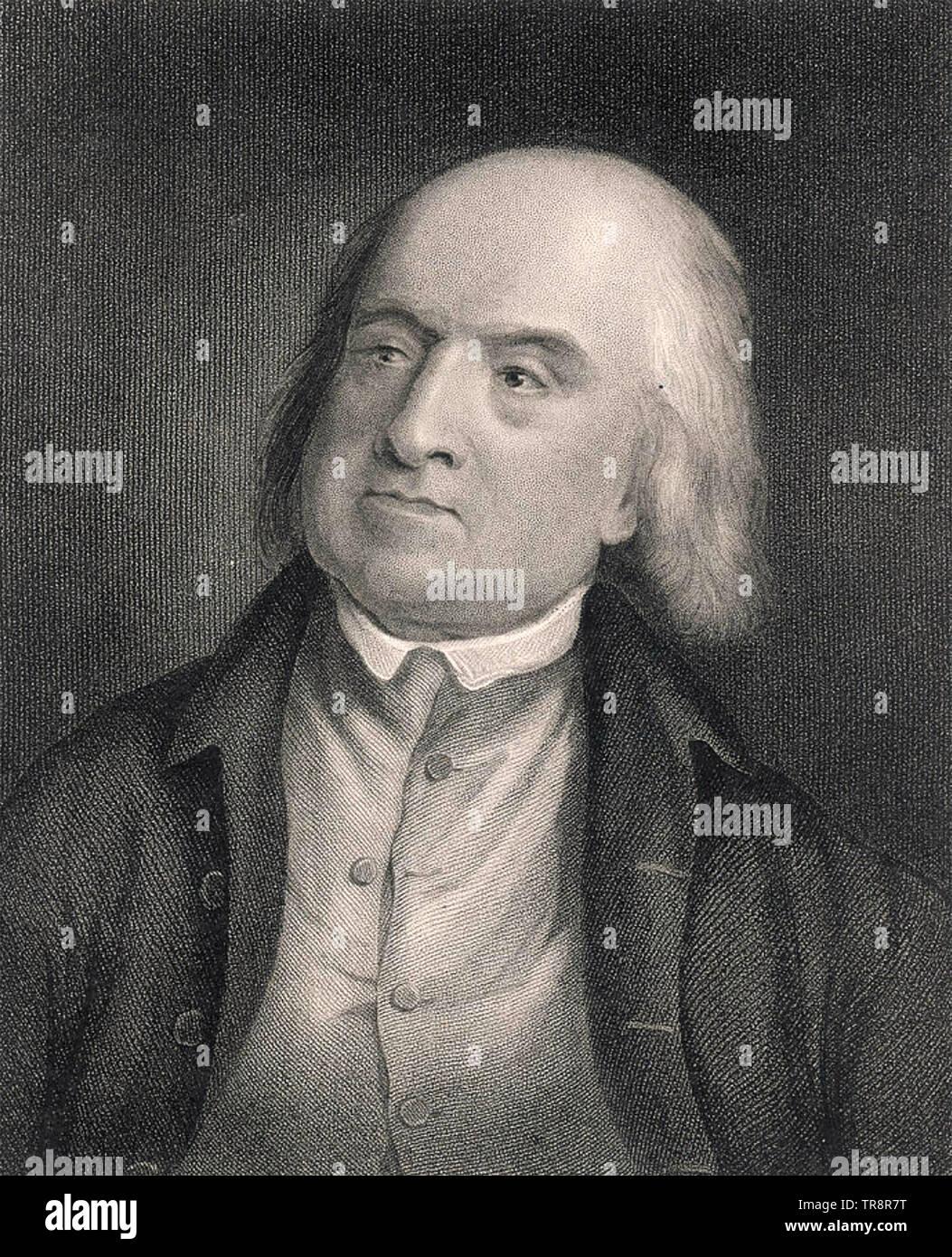 JEREMY BENTHAM (1748-1832) English philosopher, social reformer and jurist - Stock Image