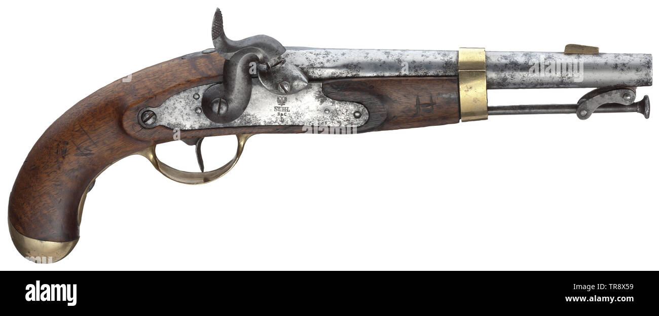 A navy pistol M 1849 Smooth bore in 15 mm calibre with brass front