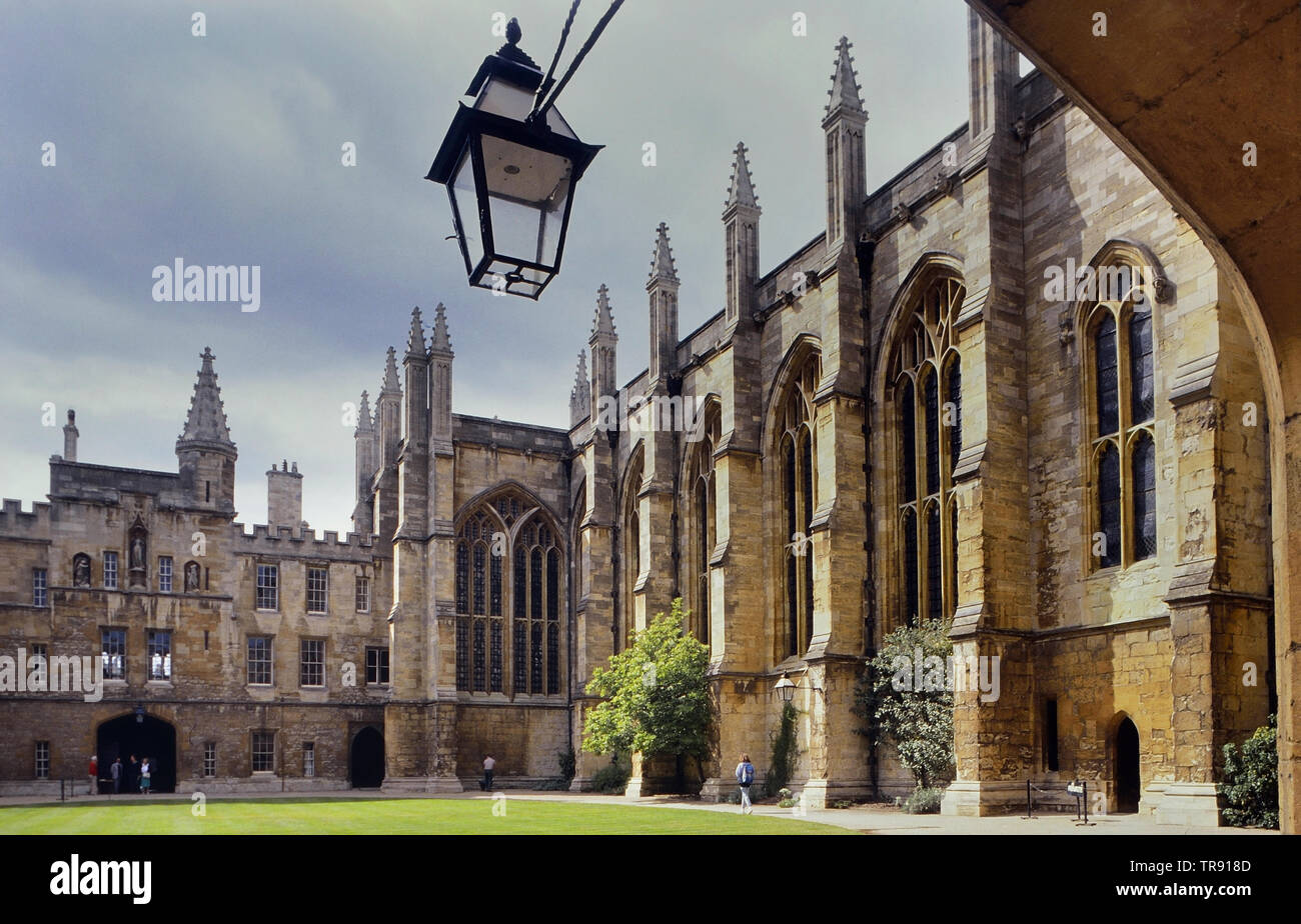 Old Lodge and Chapel, New College, Oxford, England, UK - Stock Image