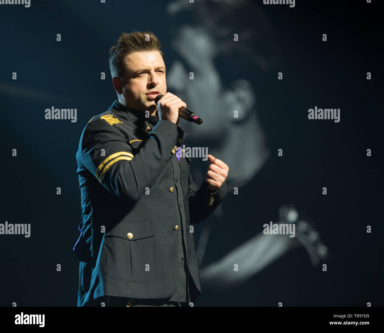 Glasgow, UK  28 May 2019  World renown boy band, Westlife