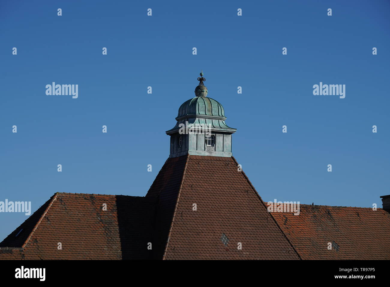 Beaver Tails As Roofing Are Very Popular In Bavaria Especially On Steep Roofs Photographed On A Spring Afternoon Stock Photo Alamy