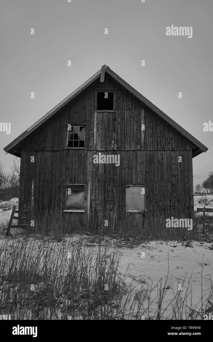 Swedish wooden Barn - Stock Image