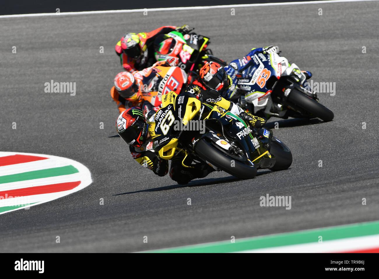 Mugello - ITALY, 30 May 2019: Italian Ducati Alma Pramac Team Rider Francesco  Bagnaia in action at 2019 GP of Italy of MotoGP on May 2019 in Italy Stock  Photo: 255288618 - Alamy