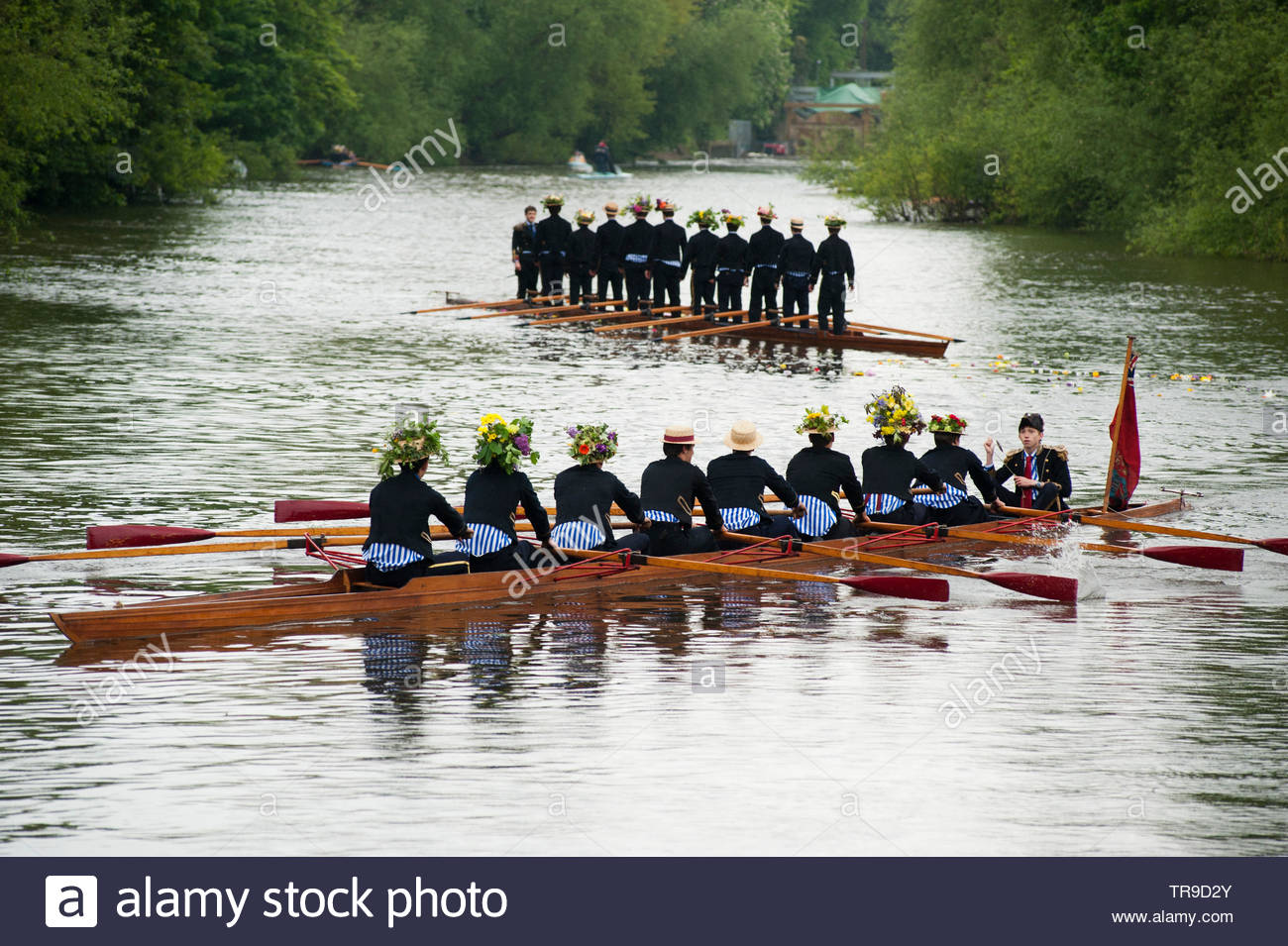 Annual Eton College Procession of Boats ceremony on the River Thames. - Stock Image