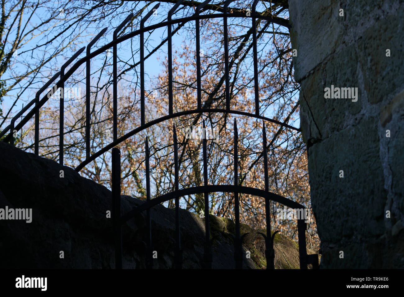 Mysterious mystical places in a park in Germany - Stock Image