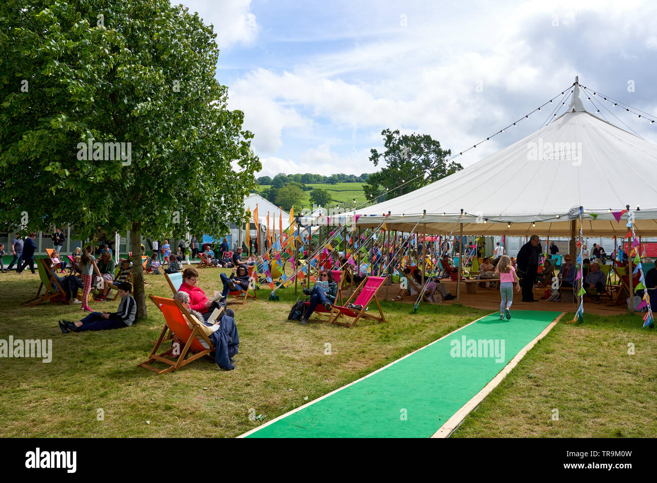 The Hay Festival, Hay-on-Wye, Wales, 2019 - Stock Image