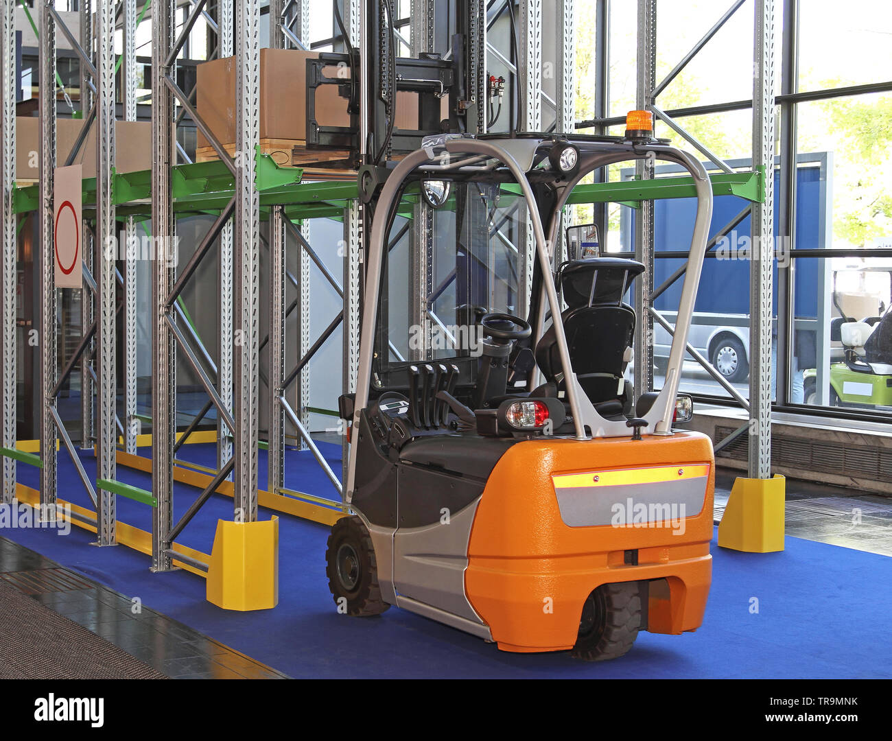 Electric Forklift Truck in Small Distribution Warehouse