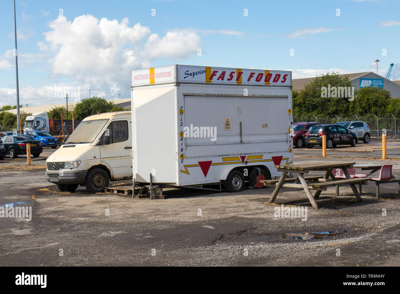 Fast food snacks, Goole in May 2019 Stock Photo
