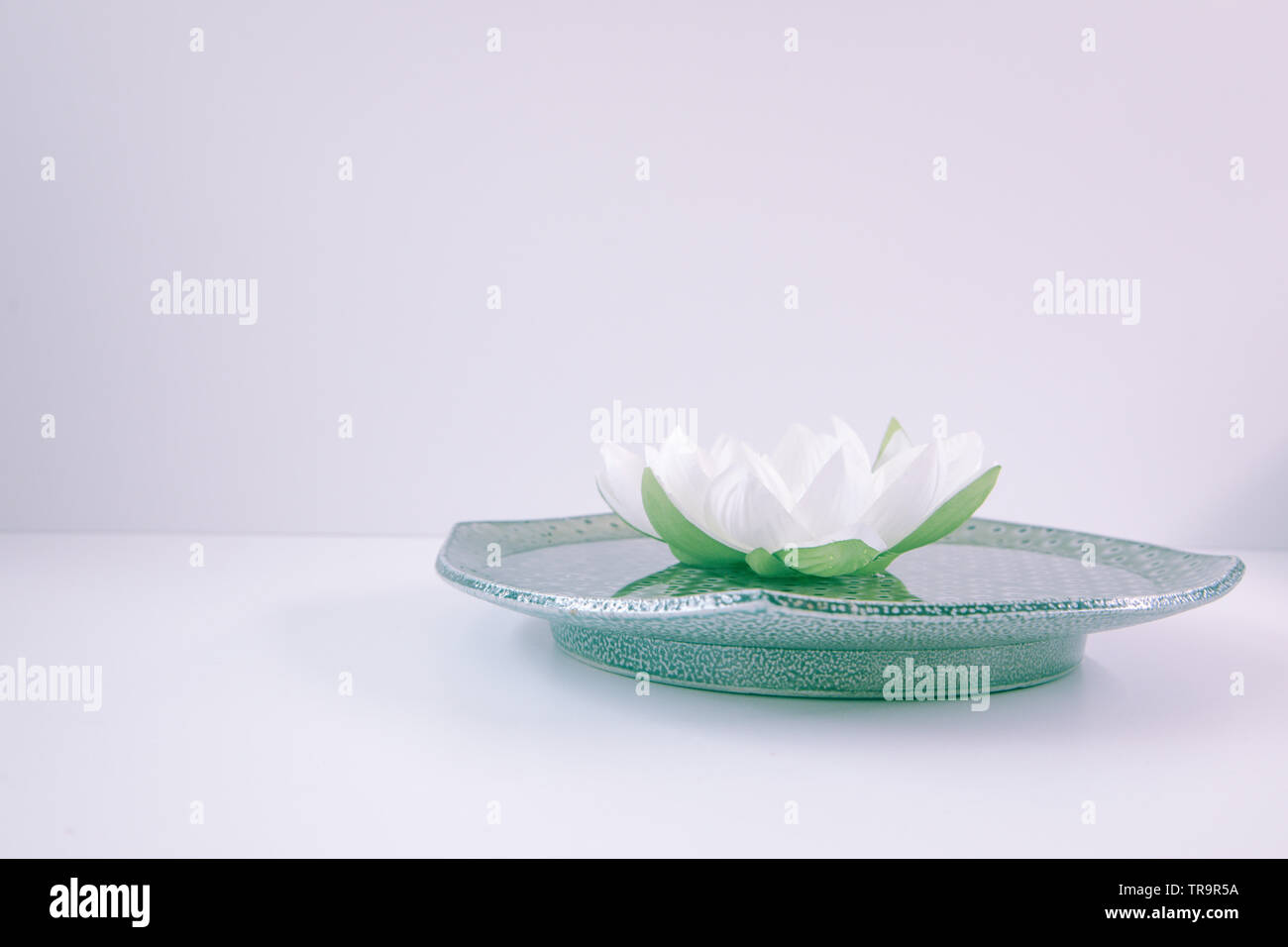 Flower Bowl With Lotus Flowers Stock Photos Flower Bowl With Lotus