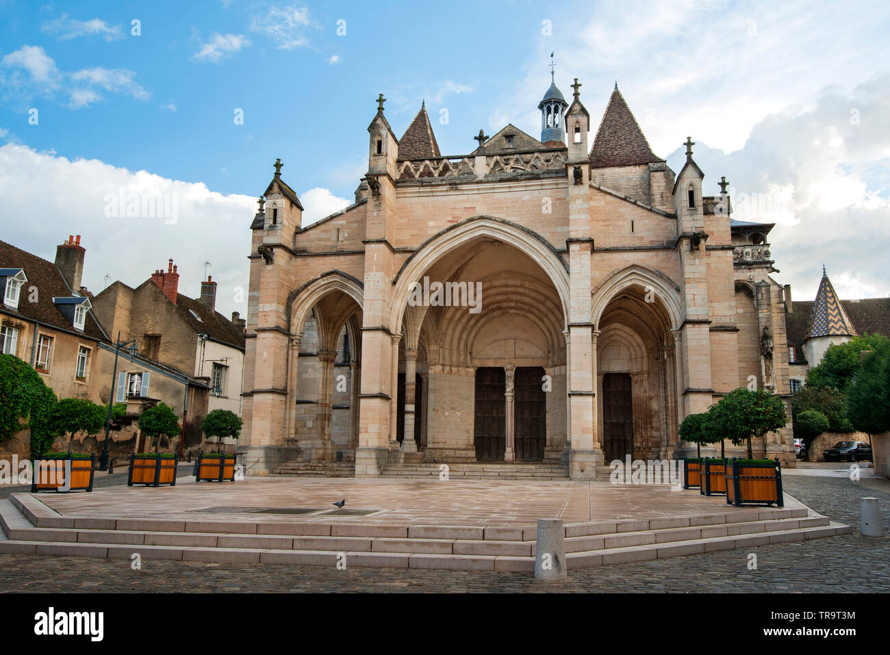 Collegiale Notre Dame in Beaune is a canonical collection dating from the second half of the 12th century, Beaune, Burgundy, France - Stock Image