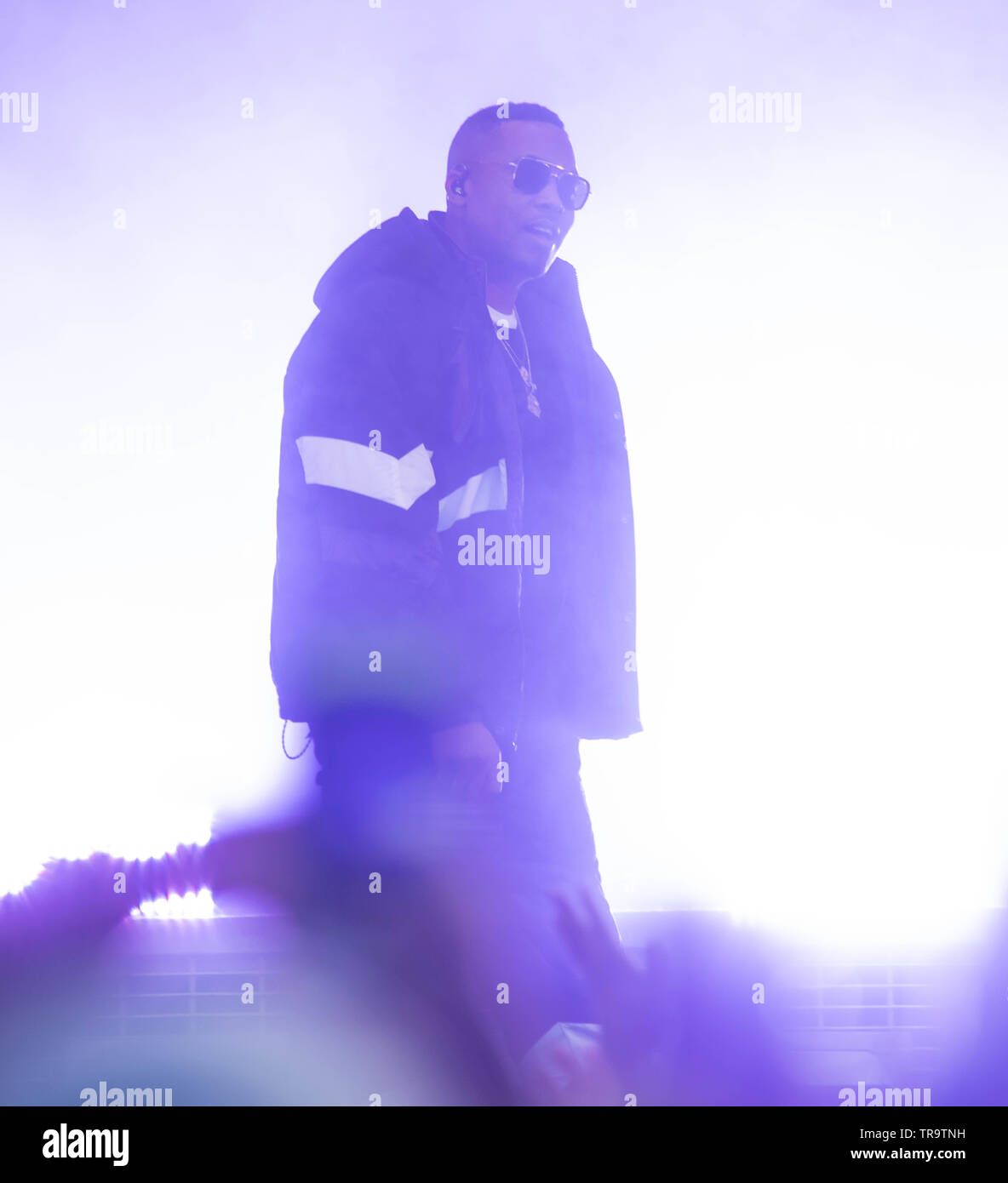 London, UK. 31st May, 2019. Rapper Nas performs at The Ends Festival. Michael Tubi / Alamy Live News Stock Photo