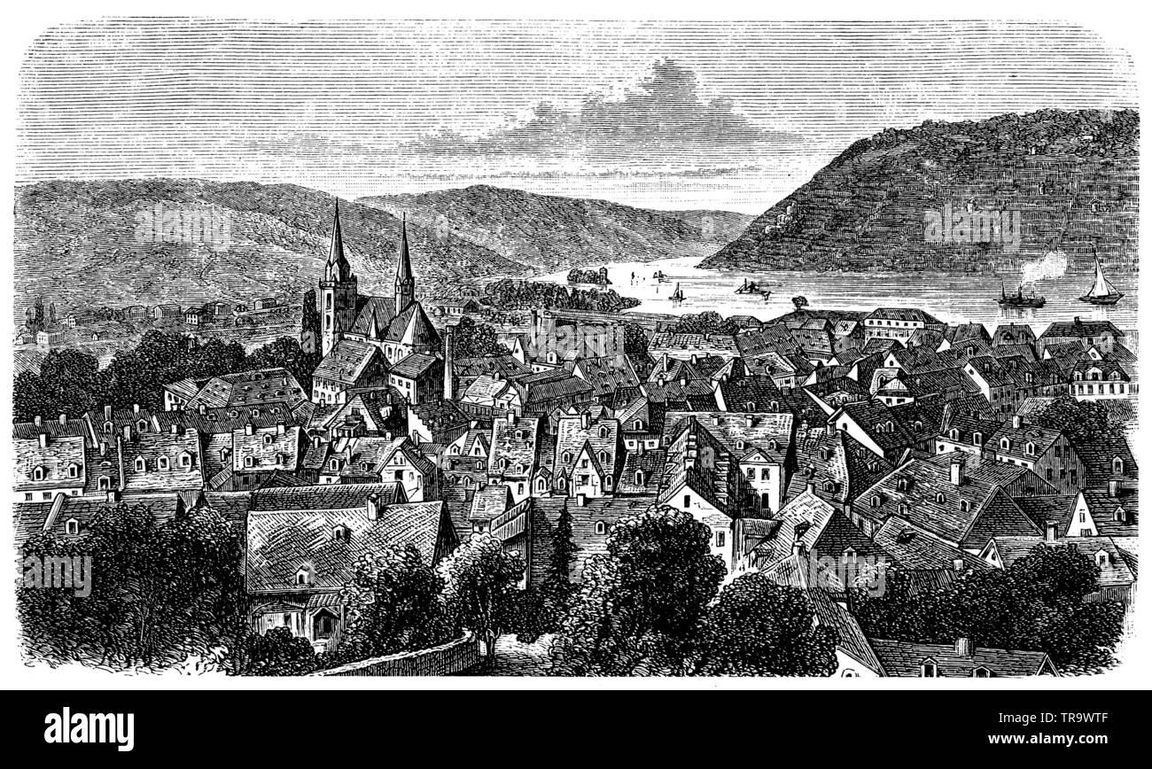 Bingen, ,  (encyclopedia, 1893) - Stock Image