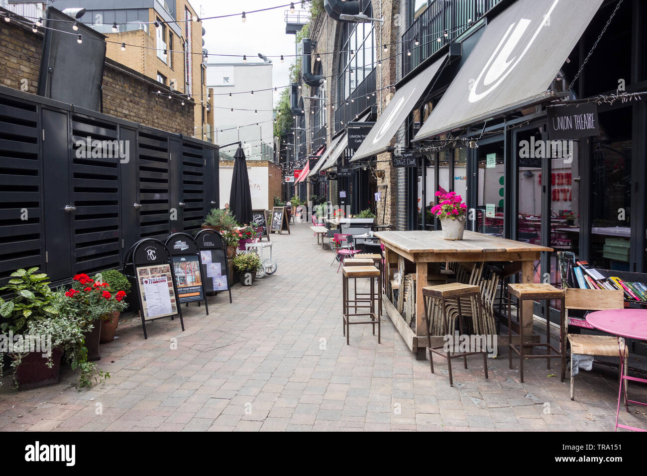 Old Union Yard Arches foodie-hub near Bankside, London, SE1, UK - Stock Image