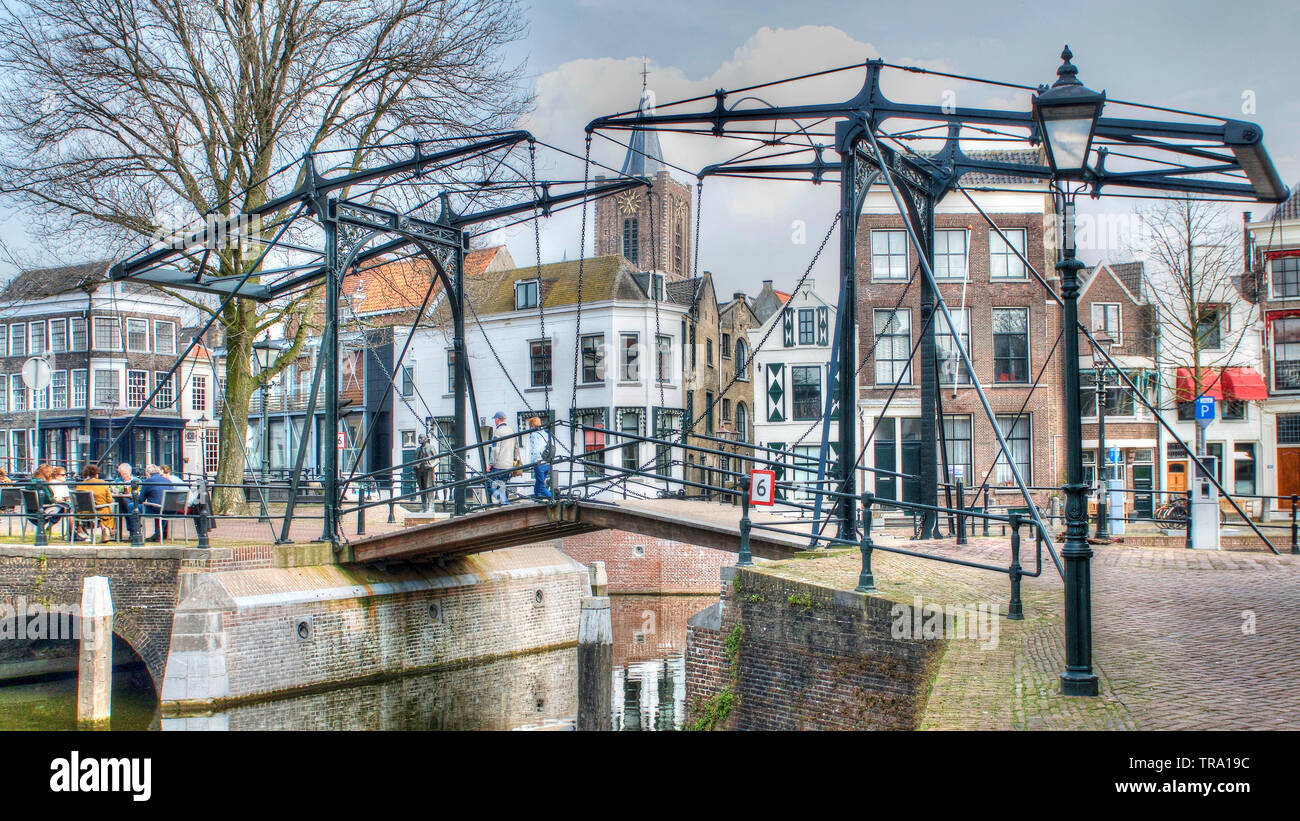 Old city in the Netherlands nearby Rotterdam Stock Photo