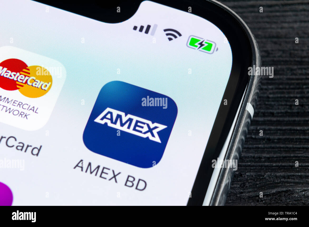 Sankt Petersburg Russia April 27 2018 Amex Application Icon On Apple Iphone X Smartphone Screen Close Up Amex App Icon American Express Is An On Stock Photo Alamy