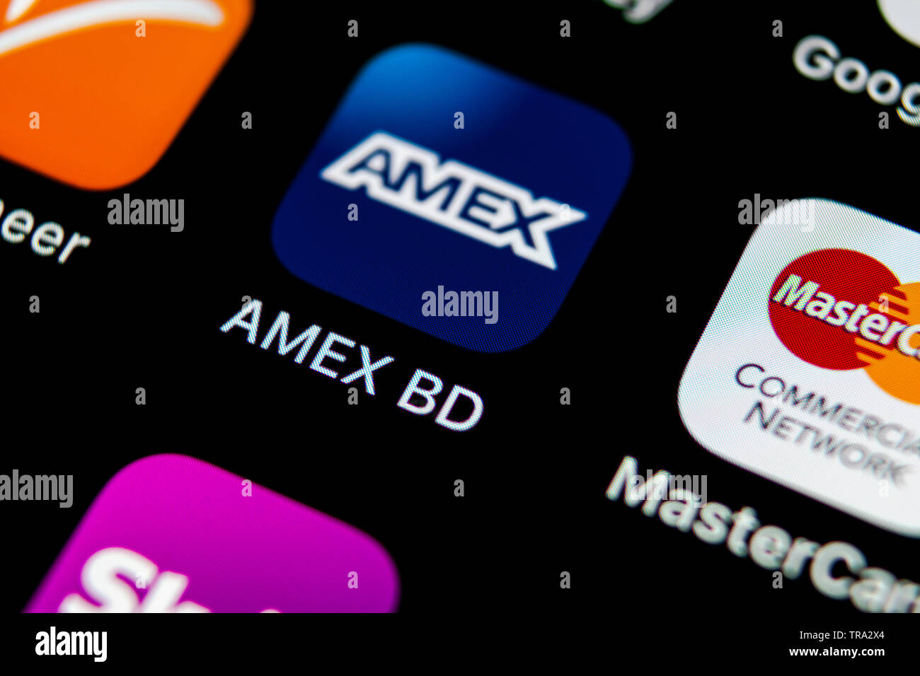 Sankt Petersburg Russia May 10 2018 Amex Application Icon On Apple Iphone X Smartphone Screen Close Up Amex App Icon American Express Is An Onli Stock Photo Alamy