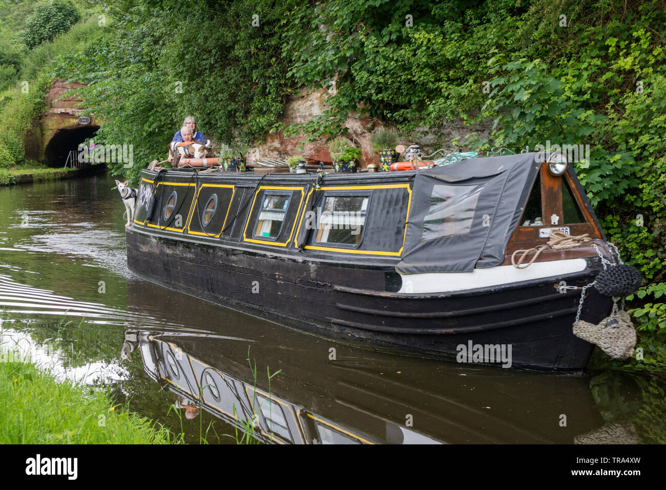 Staffordshire and Worcestershire Canal at Storton Junction nr Kinver, Staffordshire, England, UK Stock Photo