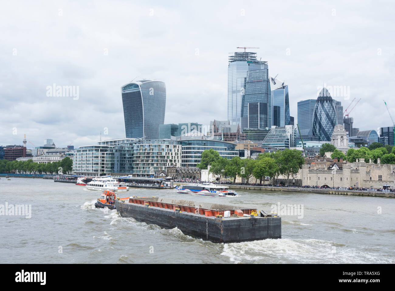 The City of London's ever changing skyline as new skyscrapers are added to the mix - Stock Image
