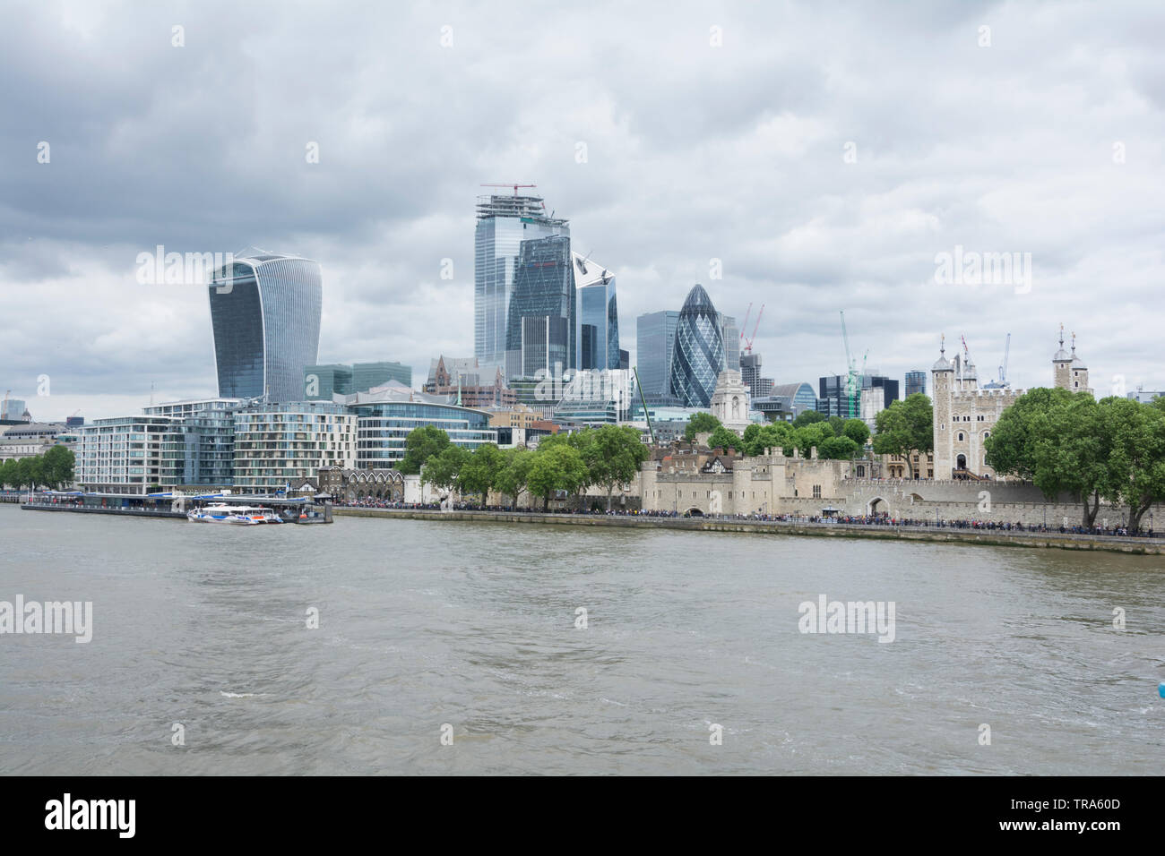 The City of London's central business district and ever-changing skyline as new skyscrapers are added to the mix - Stock Image