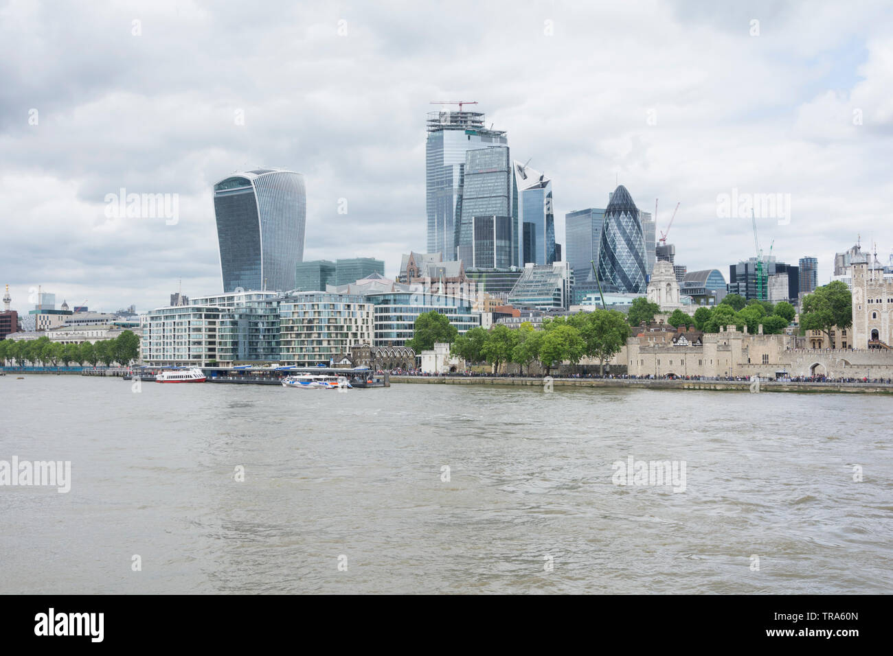 The City of London's ever-changing skyline as new skyscrapers are added to the mix - Stock Image