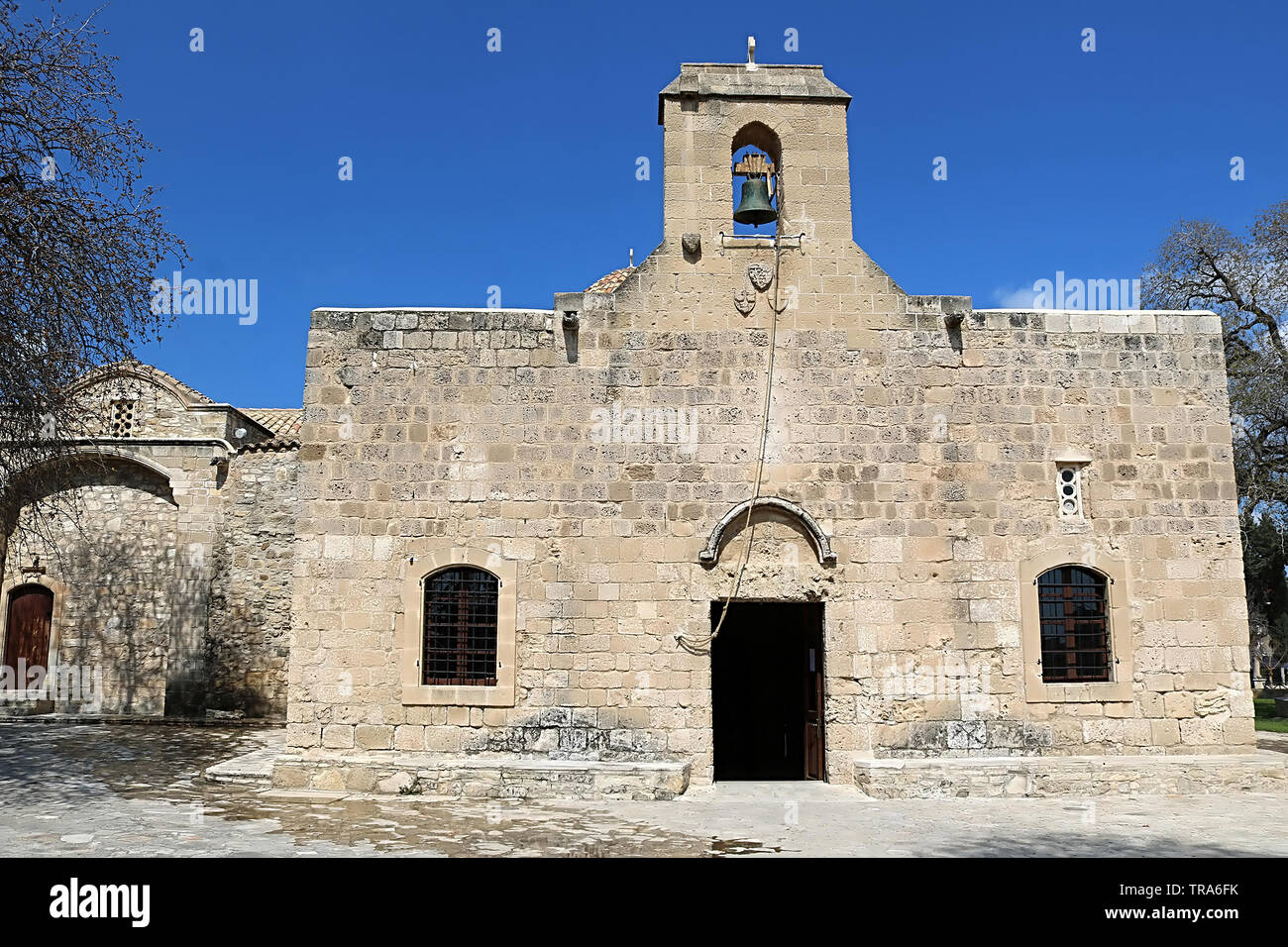 Church of Panayia Angeloktisti in Kiti village near Larnaca, Cyprus Stock Photo