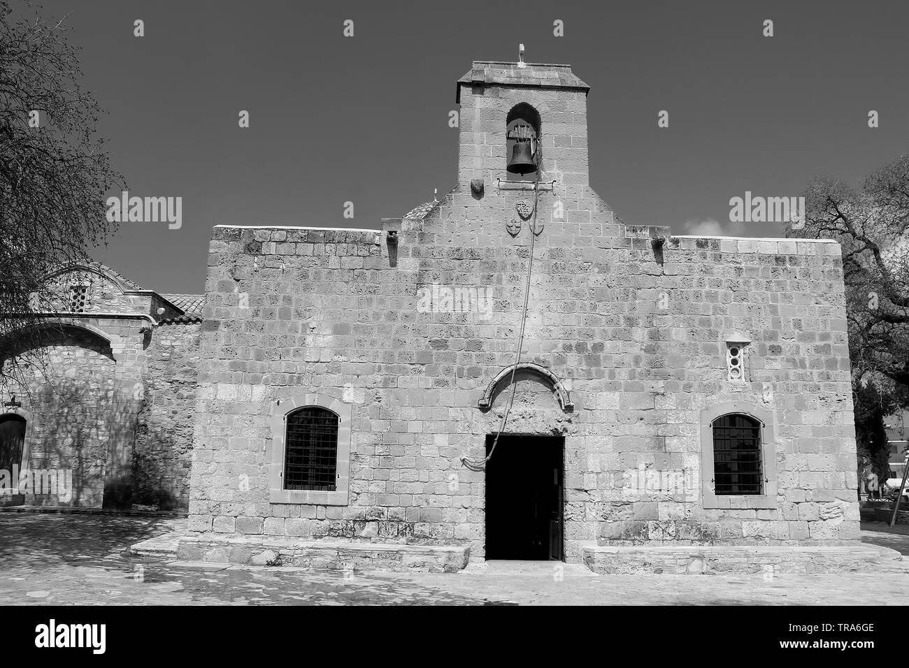 Church of Panayia Angeloktisti in Kiti village near Larnaca, Cyprus Stock Photo