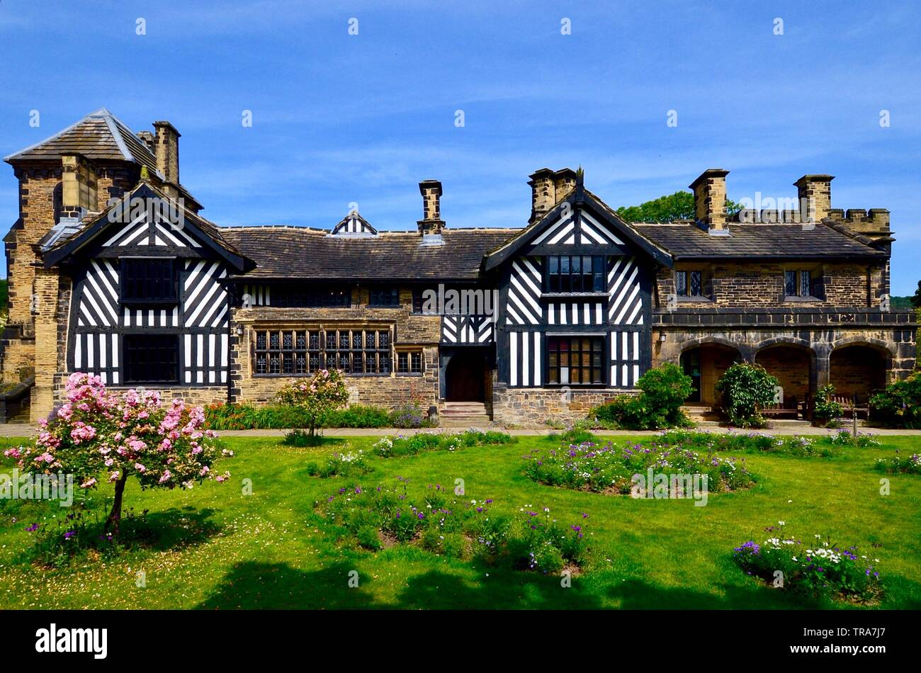 Shibden Hall in Halifax was the home to the famous Lister family for several hundred years. - Stock Image
