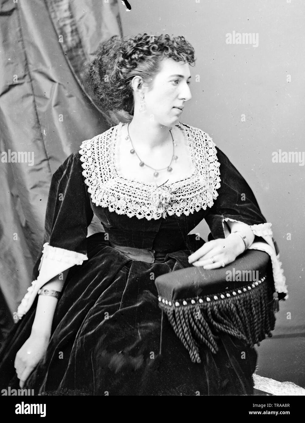 BELLE BOYD (1844-1900) Confederate spy during the American Civil War - Stock Image