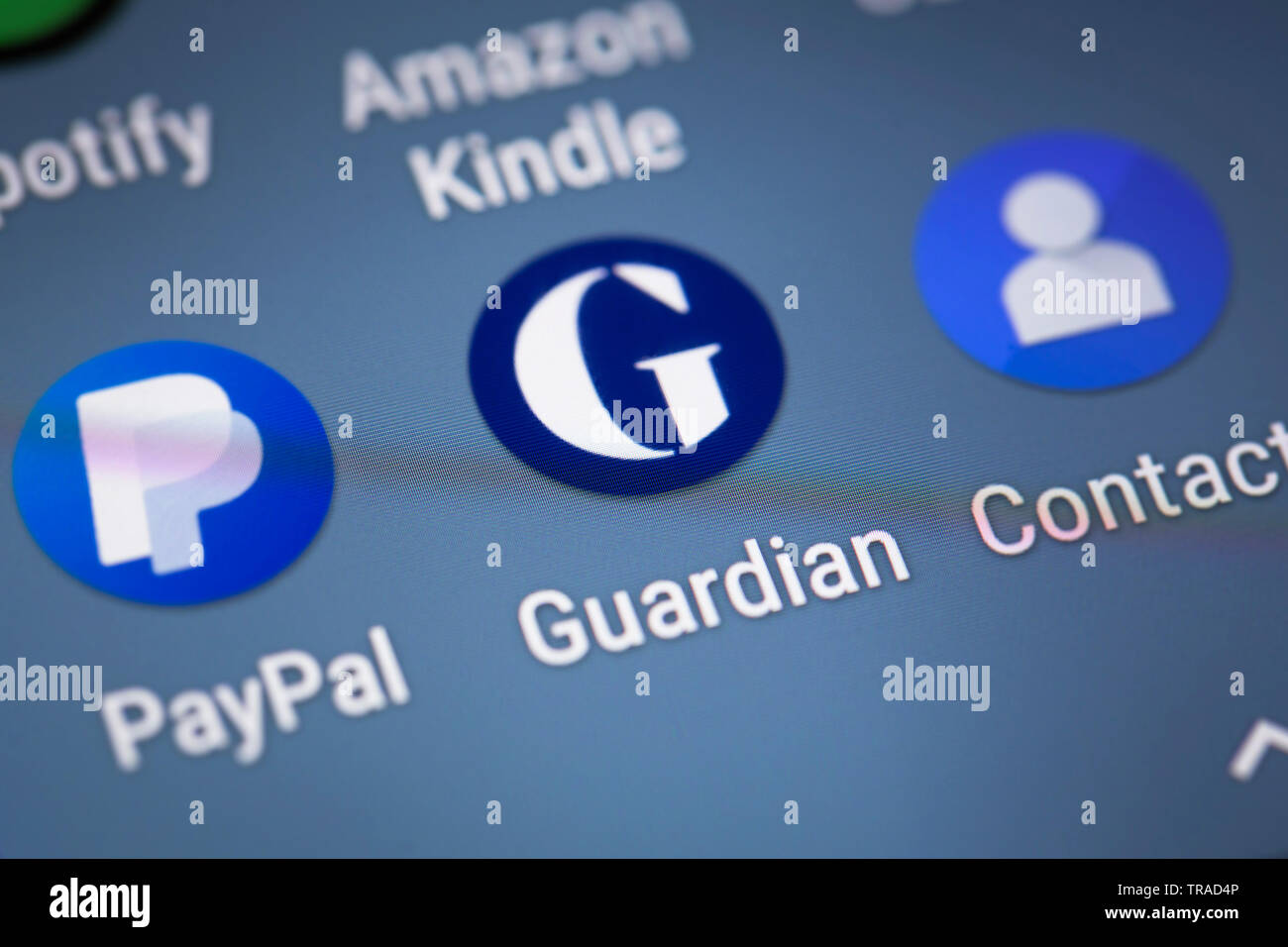 Guardian logo icon on mobile phone screen Stock Photo