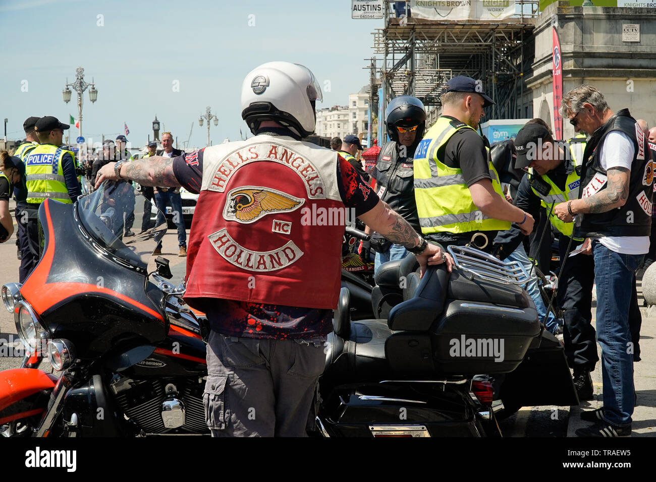Police search Hells Angels at the 50th Aniversary meet-up on