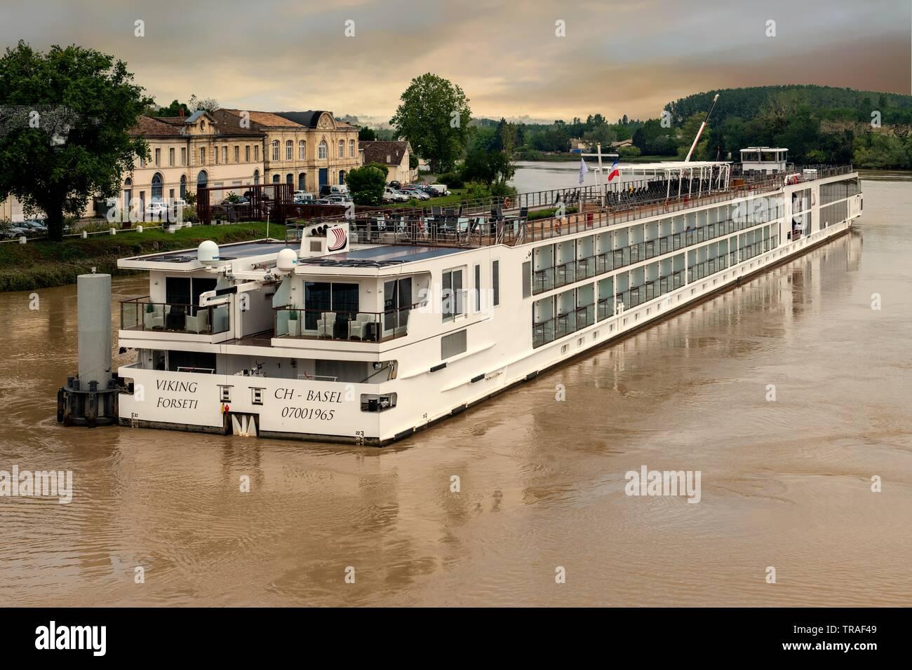 Viking Longship Forseti in Bordeaux region of France - Stock Image