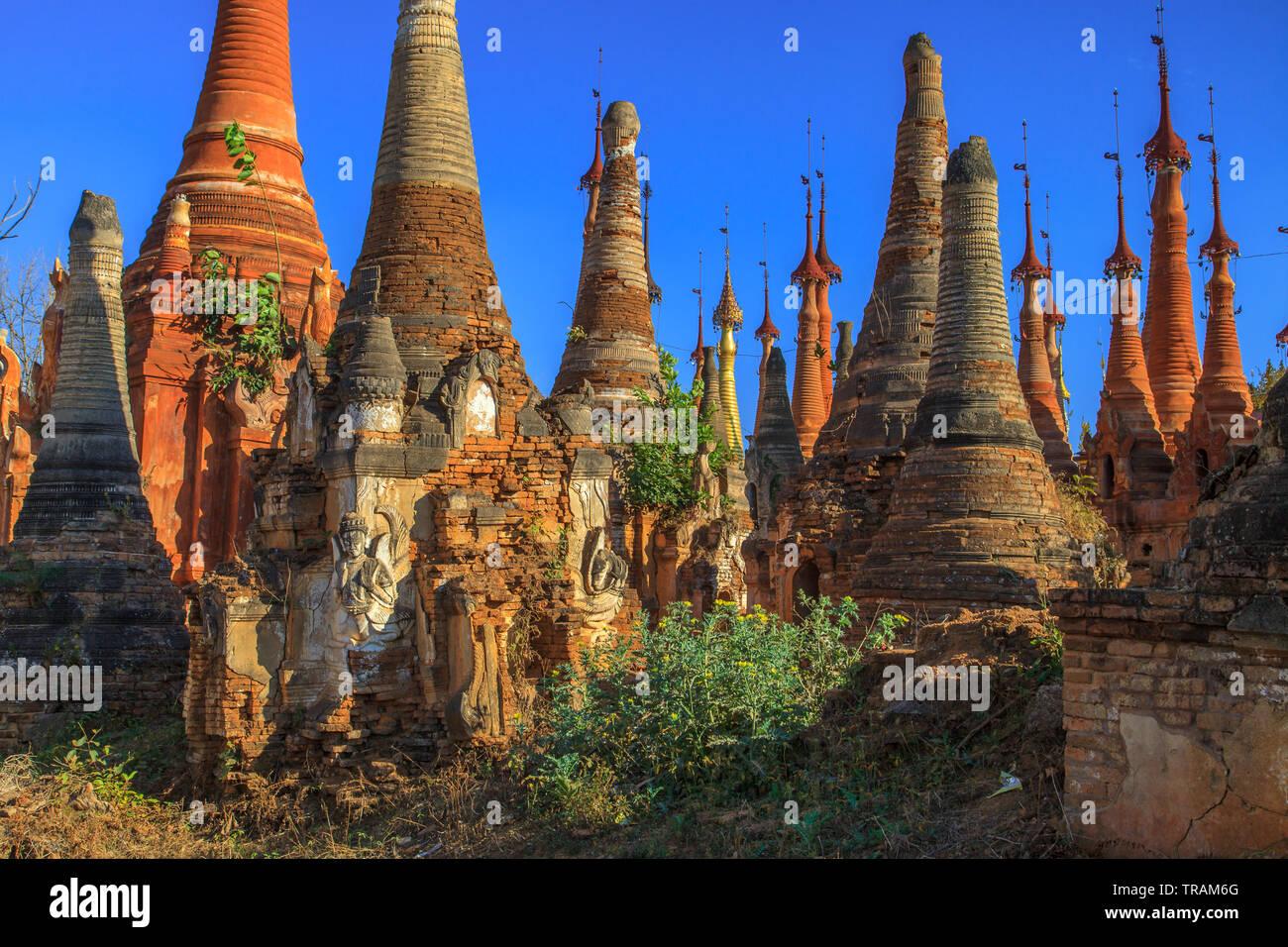 Shwe Inn Dein pagoda, Myanmar Stock Photo