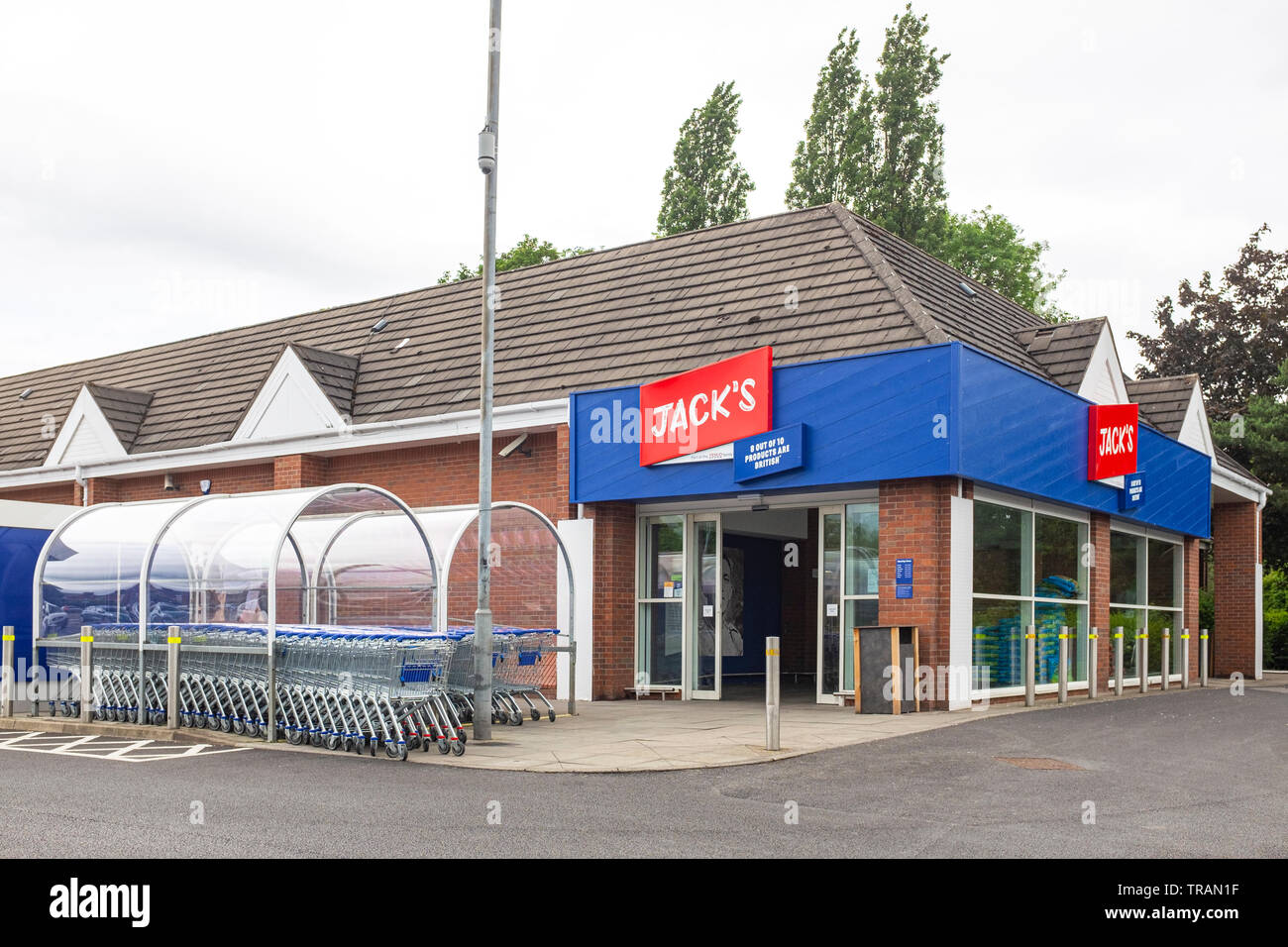 Jack's budget supermarket, part of Tesco, in Middlewich Cheshire UK - Stock Image