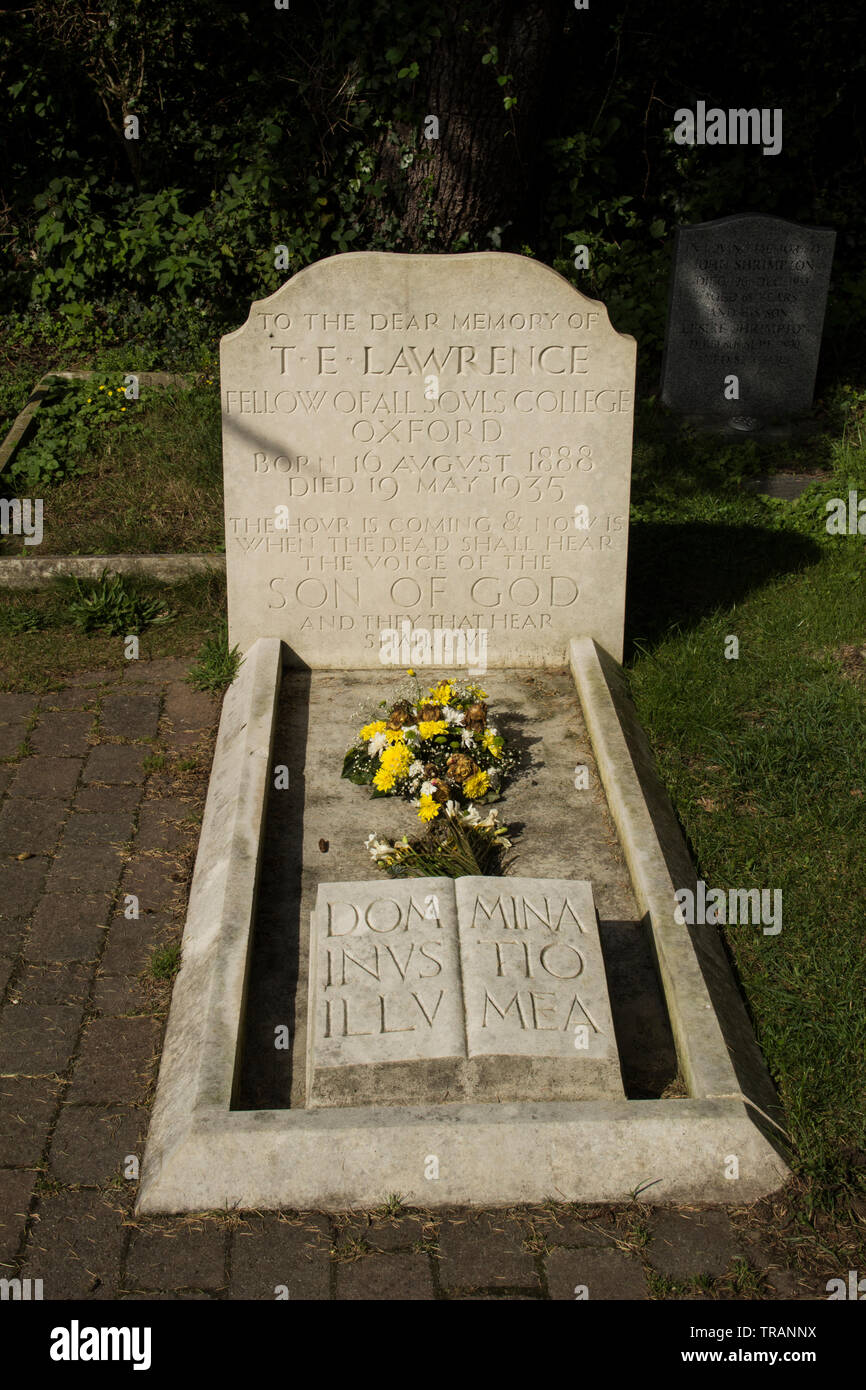 Lawrence of Arabia's grave - Stock Image