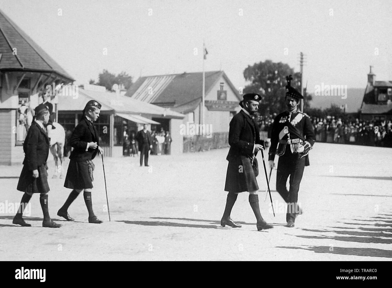 King George V, Prince of Wales and Prince Albert - Stock Image