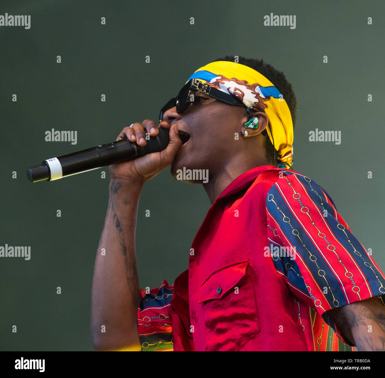 London, UK  1st June, 2019  Afrobeats Artists Wizkid