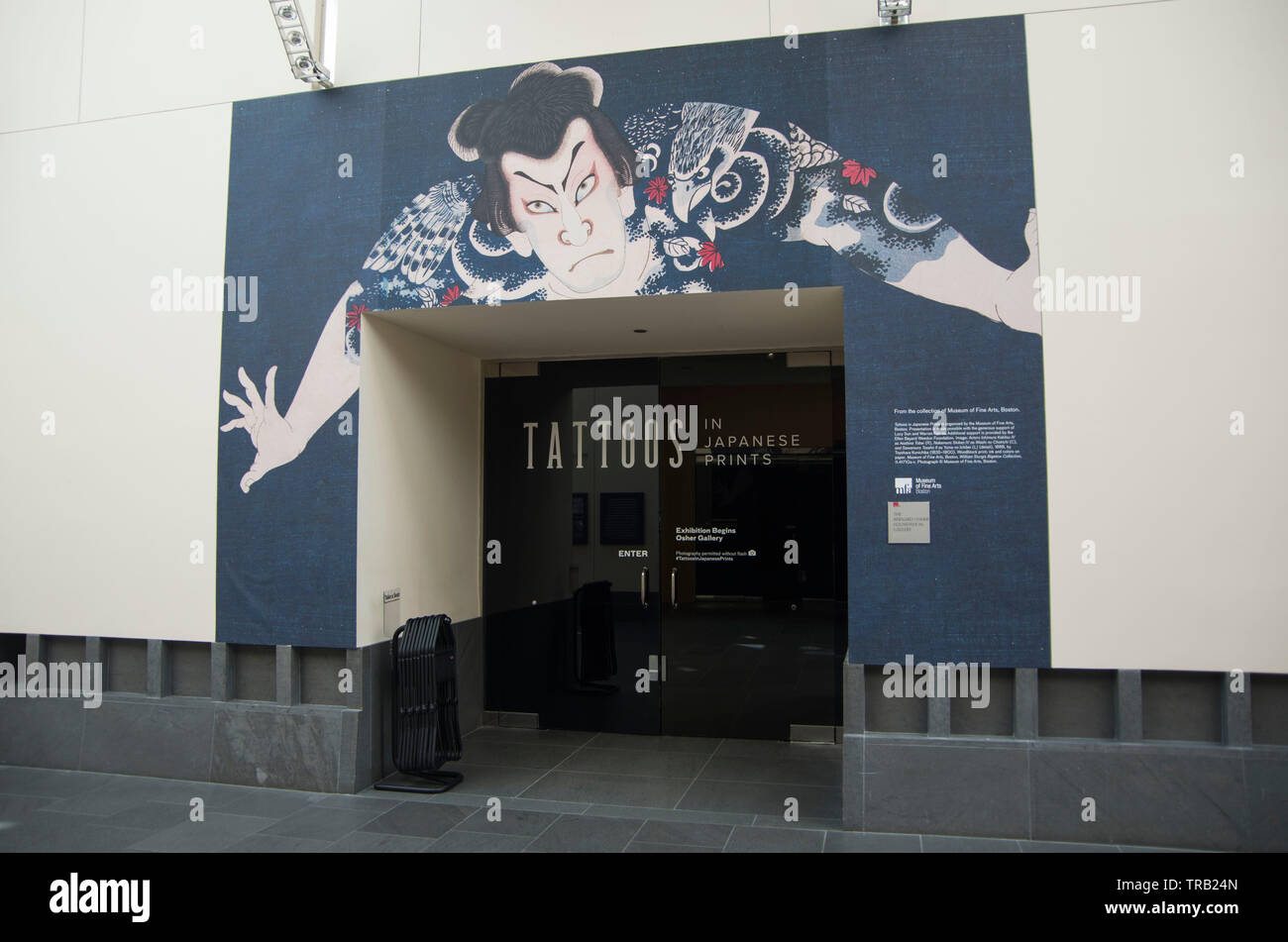 The Asian Art Museum in San Francisco has a new exhibit about Japanese tattoos in prints throughout history. - Stock Image