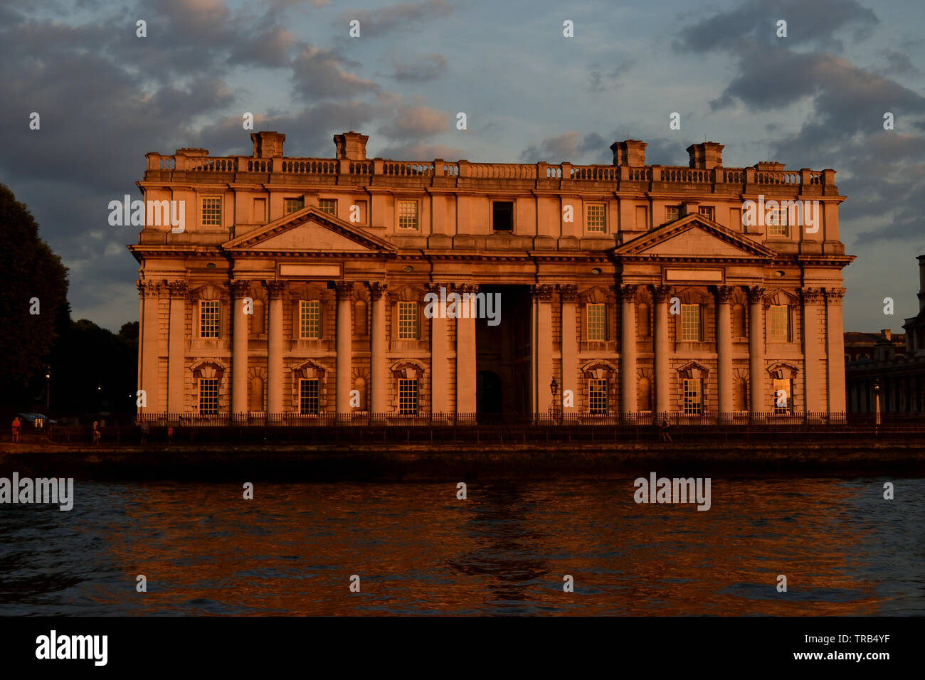 Building photographed on the bank of the River Thames, London. - Stock Image