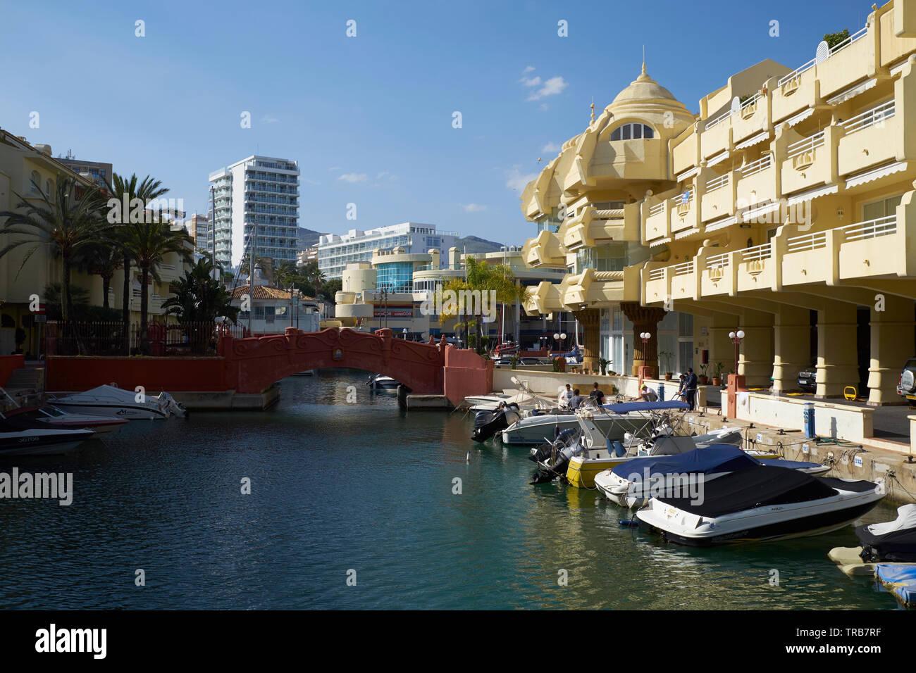 Puerto Marina yacht harbour. Benalmádena, Málaga province, Andalusia, Spain. Stock Photo