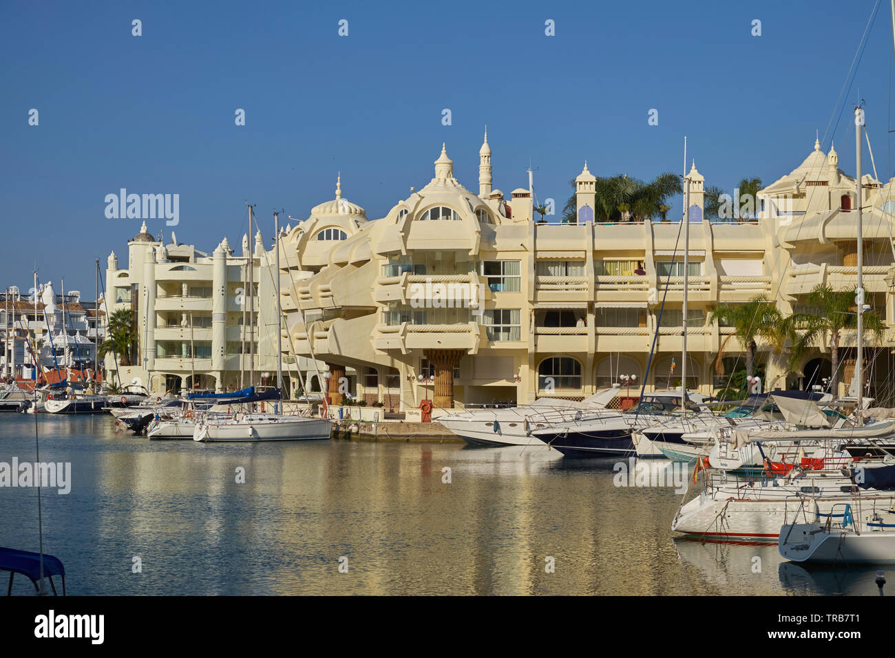 Puerto Marina yacht harbour. Benalmádena, Málaga province, Andalusia, Spain. Stock Photo