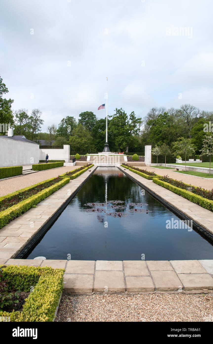 WW2 Cambridge American Cemetery & Memorial - Stock Image