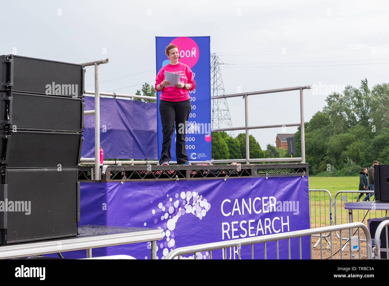 Warrington, UK. 2nd June 2019. Race for Life 2019, Warrington, in aid of Cancer Research Credit: John Hopkins/Alamy Live News - Stock Image