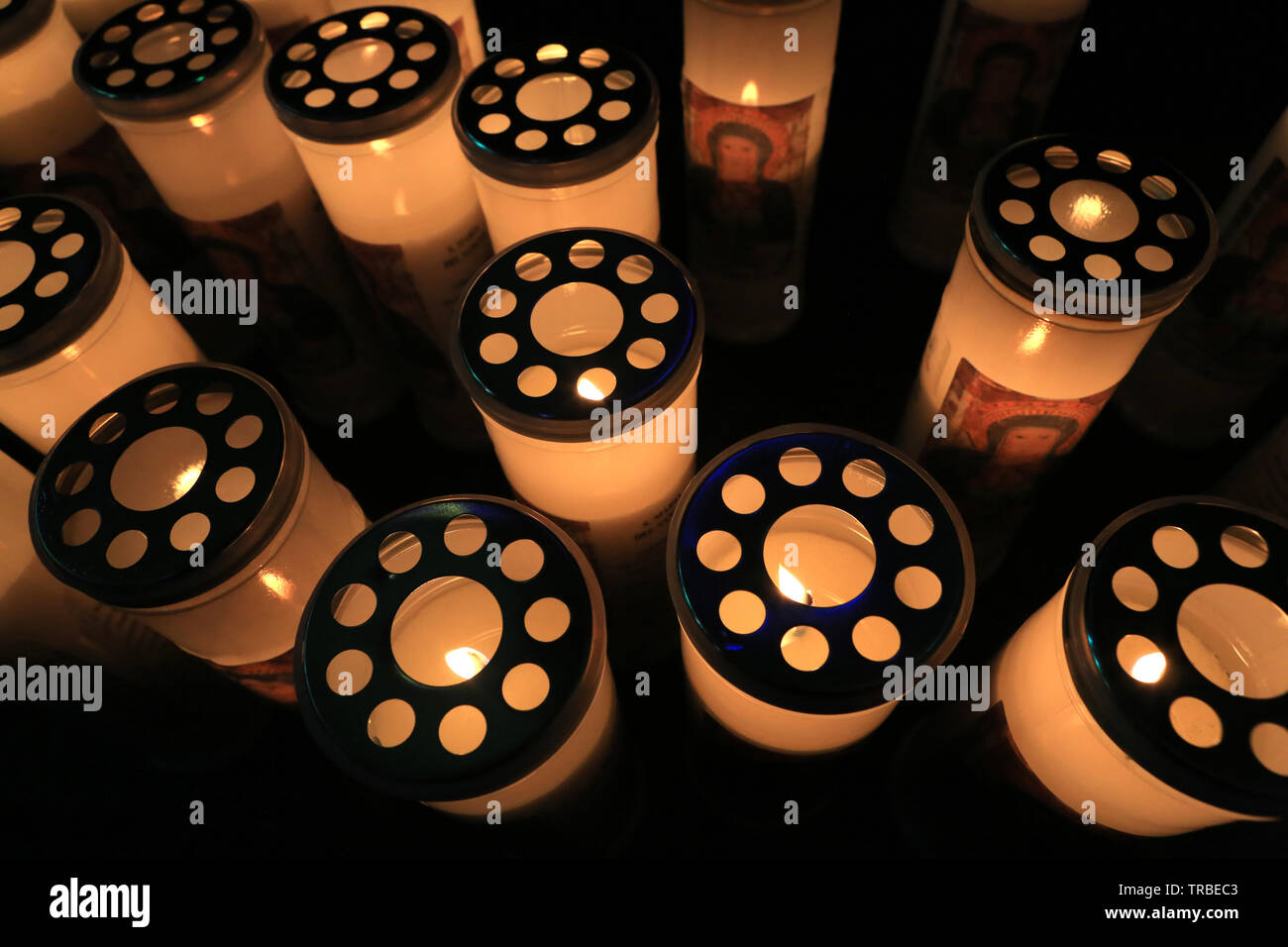 Lumignons.  Candle lights. - Stock Image